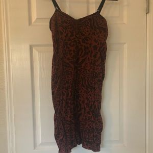 Free People red cheetah print bodycon dress❤️🖤